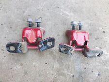 MAZDA RX-8 2004-2011 USED OEM REAR LEFT DRIVER SIDE DOOR HINGES SET RED
