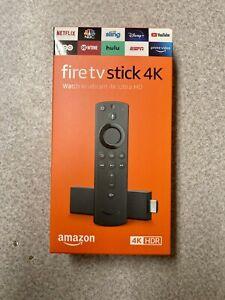 NEW Amazon Fire TV Stick 4K Ultra HD HDR Streaming Media Player + Alexa Remote
