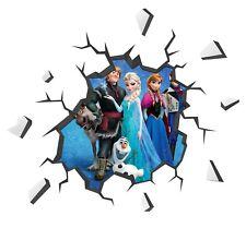Frozen Wall Decal 3D Art Stickers Vinyl Room Bedroom Mural Kids Nursery 1
