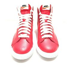 check out 83521 31aff Nike Blazer Mid Premium PRM Mens Red White Black Size 7 New Without Box
