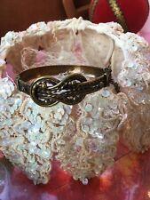 Vintage Kk Koru Bronze Brass Bracelet Love Knot