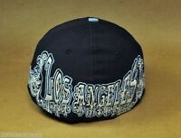 New Era 59Fifty Fitted MLB Los Angeles Dodgers Hat Mens Navy Blue Vienna Cap