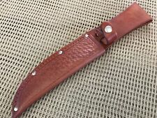 "Brown Leather Basket Weave Embossed Sheath Fits 6"" Blades Knife Making Supplies"