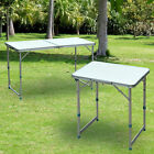 Outdoor Patio Roll up Portable Folding Camping Square Aluminum Picnic Table