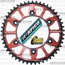Apico Xtreme Red Black Rear Alloy Steel Sprocket 49T For Honda CR 125 1988 MotoX