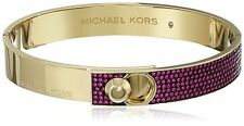 NWT Michael Kors Parisian Women's Jewels Pave Gold-Tone Bangle Bracelet $145