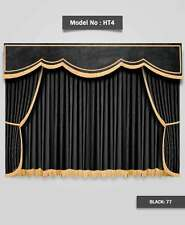 Saaria HT-4 Velvet Stage Home Theater Event Movie Theater Curtains 17'W x 9'H