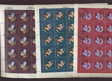 RUSSIA 1963 GEMSTONES SET FULL SHEETS 150 stamps cv £85