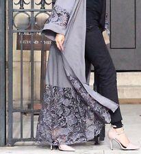 LACE BELTED KIMONO CAPE SUMMER STYLE Dubai Abaya Wedding farasha Maxi DRESS