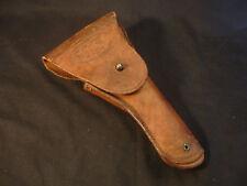Old Vtg WW2 Military U.S. Graton & Knight Co Brown Leather Pistol Gun Holster
