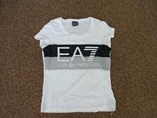 EMPORIO ARMANI EA7 Ladies White S/S T Shirt Small