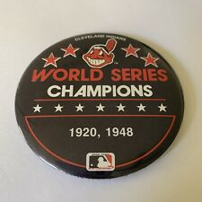 """Vintage Cleveland Indians World Series Champions 1920 Pin Back Button 3"""" MLB"""
