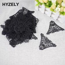 20pcs/lot Black Triangle Lace Applique Mesh Trim For Garment Accessories Decorat