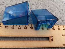 2 x Lego Windows Fronts Vehicles BLUE*Cheapest on Ebay* FAST FREE POST