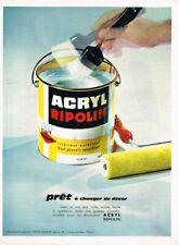 I- Publicité Advertising 1964 La Peinture Acryl Ripolin