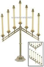 "Catholic Altar Candelabra Brass Adjustable Seven 7/8"" Sockets 26""W x 22""H x 6.5"""