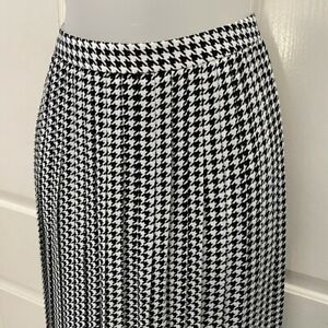 NEW wTag-J. CREW Factory Houndstooth Pleated Skirt 4
