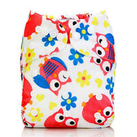 Adjustable Washable Insert Infant Baby Cloth Diapers Reusable Nappy