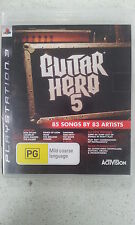 Guitar Hero 5 Sony Playstation 3 PS3 Game Only