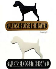 Jack Russell Please Close The Gate Silhouette Dog Plaque - House Garden Sign