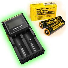 Nitecore D2 DigiCharger w LCD display & 2x Nitecore IMR 18650 30A batteries