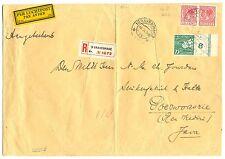 NEDERLAND 1935 REG LP GROOT FORM ZAKEN BRIEF ROLT# 46 PAAR ZELDZAAM -BRIEF VOUW