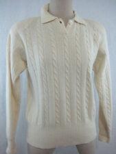 Vintage 80s Liz Claiborne Sweater Size M Angora Lambswool Off White