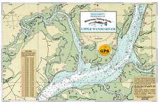 Sealake South Carolina: Upper Wando River Fishing Map Chart Print