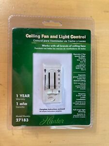Hunter 27183 4-Speed Ceiling Fan And Light Dual-Slide Preset Switch Control