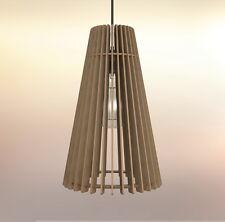 Lampadario rustico moderno in legno soffitto sospensione - Design Forma Cono