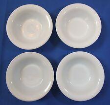 "Set 4 Anchor Hocking Fire King Vintage Milk White Glass Cereal Bowls 6 1/4"""