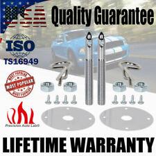 Universal 2 Pack 1016 Stainless Steel Hood Pin Lock Clip Kit Hair-Pin Plate