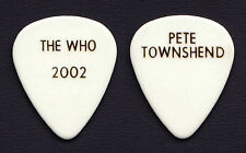 The Who Pete Townshend White Guitar Pick #2  - 2002 Tour
