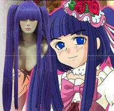 Umineko no Nakukoroni Furudo Erika Purple Cosplay Wigs+2 horsetail