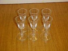 Libbey Rock Sharpe Crystal Pattern 3002 Cordial Glass Set