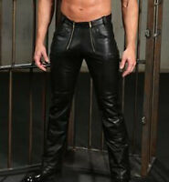 Men's Real Leather Pants Carpenter Cow Carpenter Leather Pants + FREE GIFT