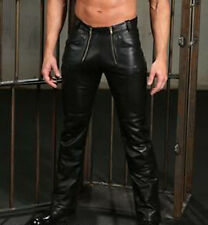 105Men's Real Leather Pants Carpenter Cowhide Carpenter Leather Pants