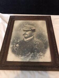 Cadre bois ancien portrait photographique