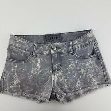 Tripp Daang Goodman Shorts Sz 1 Punk Stretch Distressed Denim Shorts RARE HTF