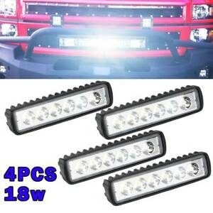 4x 12V 18W LED Work Light Bar Flood Spot Lights Driving Lamp Offroad Car SUV