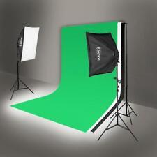 Photo Photography 2 SoftBox Studio Light Bulb Lighting Kit Backdrop Stand