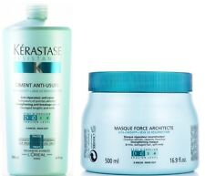 Force : Ciment Anti Usure 1000ML + NEW Masque Architecte 500ML Kerastase + Pump