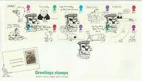 26 FEBRUARY 1996 GREETINGS ROYAL MAIL UNADDRESSED FIRST DAY COVER TITTERHILL SHS
