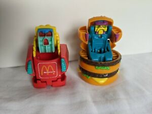 1990 McDonald's Australia Promotional Transformers Big Mac And Fries Toys
