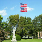 25Ft Sectional Flagpole Kit W/ 1pc US Flags Outdoor Aluminum Halyard Pole US