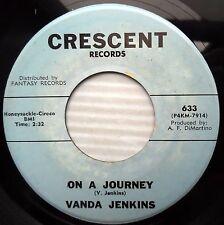 VANDA JENKINS 45 Night is here On a Journey 1963 TEEN Pop on CRESCENT e7353