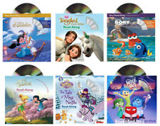 Read-Along Storybook & CD Inside Out,Tinkerbell,Aladdin,Sofia,Tangled 6 Paper/CD