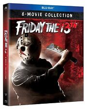 FRIDAY THE 13TH - 8 MOVIE COLLECTION 8 DISC BLU RAY  REGION FREE