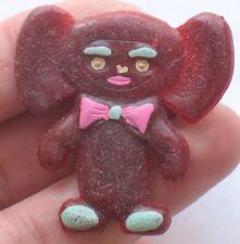 Cheburashka Russian CARTOON HERO pin Buttons badge Child Kid Brown Red Cutie Old