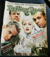 NO DOUBT BAND SIGNED 1997 ROLLING STONE MAGAZINE SUPER RARE GWEN+3 W/COA+PROOF